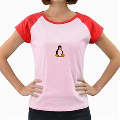 Linux Tux Contra Sit Women s Cap Sleeve T Shirt (colored)