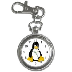 LINUX TUX CONTRA SIT Key Chain & Watch