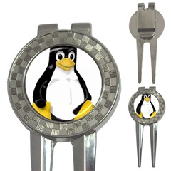 LINUX TUX CONTRA SIT Golf Pitchfork & Ball Marker