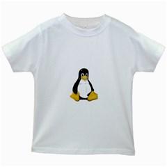 LINUX TUX CONTRA SIT Kids' T-shirt (White)