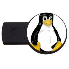 LINUX TUX CONTRA SIT 1GB USB Flash Drive (Round)