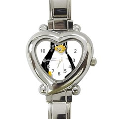 LINUX TUX CONTRA SIT Heart Italian Charm Watch