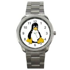 Linux Tux Contra Sit Sport Metal Watch