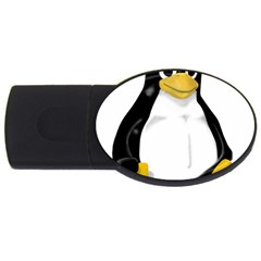LINUX TUX CONTRA SIT 4GB USB Flash Drive (Oval)