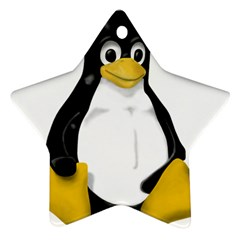 LINUX TUX CONTRA SIT Star Ornament (Two Sides)
