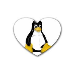 LINUX TUX CONTRA SIT Drink Coasters 4 Pack (Heart)