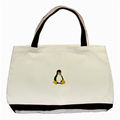 LINUX TUX CONTRA SIT Twin-sided Black Tote Bag