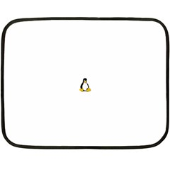 Linux Tux Contra Sit Mini Fleece Blanket (two Sided)