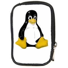 Linux Tux Contra Sit Compact Camera Leather Case