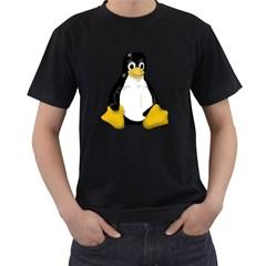 LINUX TUX CONTRA SIT Mens' T-shirt (Black)