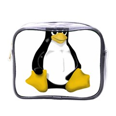 LINUX TUX CONTRA SIT Mini Travel Toiletry Bag (One Side)