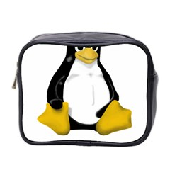 Linux Tux Contra Sit Mini Travel Toiletry Bag (two Sides)