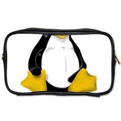 Linux Tux Contra Sit Travel Toiletry Bag (one Side)
