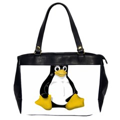 Linux Tux Contra Sit Oversize Office Handbag (two Sides)