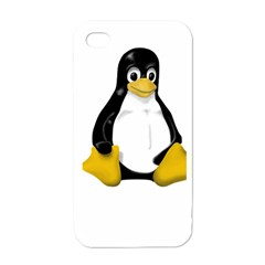 LINUX TUX CONTRA SIT Apple iPhone 4 Case (White)