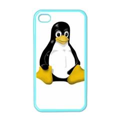 LINUX TUX CONTRA SIT Apple iPhone 4 Case (Color)