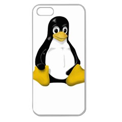 Linux Tux Contra Sit Apple Seamless Iphone 5 Case (clear)