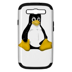 LINUX TUX CONTRA SIT Samsung Galaxy S III Hardshell Case (PC+Silicone)