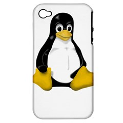 LINUX TUX CONTRA SIT Apple iPhone 4/4S Hardshell Case (PC+Silicone)
