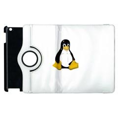 Linux Tux Contra Sit Apple Ipad 2 Flip 360 Case