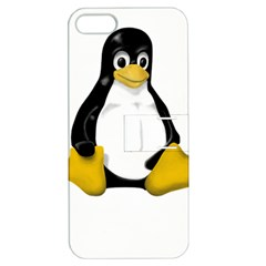 LINUX TUX CONTRA SIT Apple iPhone 5 Hardshell Case with Stand