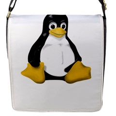 LINUX TUX CONTRA SIT Flap Closure Messenger Bag (Small)