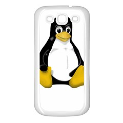 LINUX TUX CONTRA SIT Samsung Galaxy S3 Back Case (White)