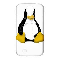 LINUX TUX CONTRA SIT Samsung Galaxy S4 Classic Hardshell Case (PC+Silicone)