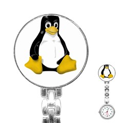 Linux Tux Contra Sit Stainless Steel Nurses Watch