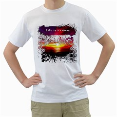 Life Is A Canvas Mens  T Shirt (white)