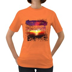 Life is a canvas Womens' T-shirt (Colored)
