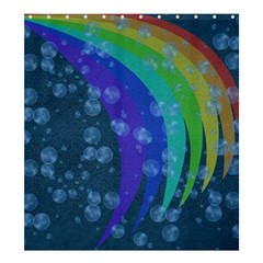 Bubbles and rainbows Shower Curtain 66  x 72  (Large)