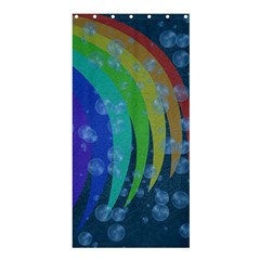 Bubbles And Rainbows Shower Curtain 36  X 72  (stall)