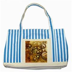 Steampunk Blue Striped Tote Bag