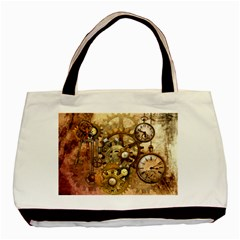 Steampunk Twin Sided Black Tote Bag