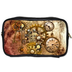 Steampunk Travel Toiletry Bag (one Side)
