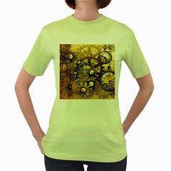 Steampunk Womens  T-shirt (Green)