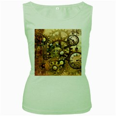 Steampunk Womens  Tank Top (green)