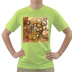 Steampunk Mens  T-shirt (Green)