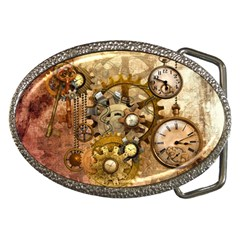 Steampunk Belt Buckle (oval)