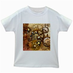 Steampunk Kids' T-shirt (White)