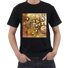 Steampunk Mens' Two Sided T-shirt (Black)