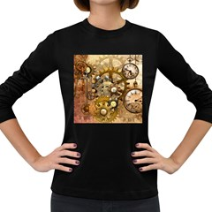 Steampunk Womens' Long Sleeve T-shirt (Dark Colored)