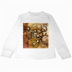 Steampunk Kids Long Sleeve T Shirt