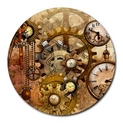 Steampunk 8  Mouse Pad (Round)