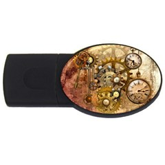 Steampunk 1GB USB Flash Drive (Oval)