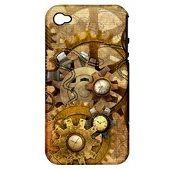 Steampunk Apple iPhone 4/4S Hardshell Case (PC+Silicone)