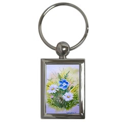 Meadow Flowers Key Chain (Rectangle)