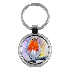 Robin Red Breast Key Chain (Round)