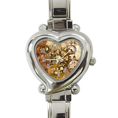 Steampunk Heart Italian Charm Watch